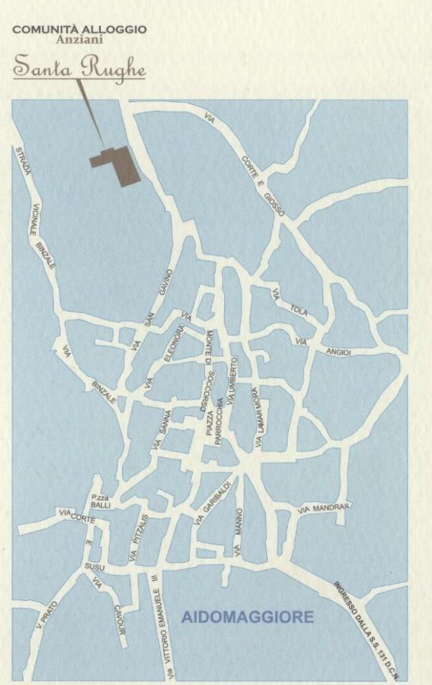 Mappa Comunità Santa Rughe